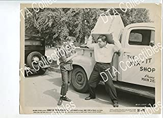MOVIE PHOTO: CORKY OF GASOLINE ALLEY 8x10 PROMO STILL-VG-1951-OLD TRUCK-COMEDY-COMIC STRIP VG
