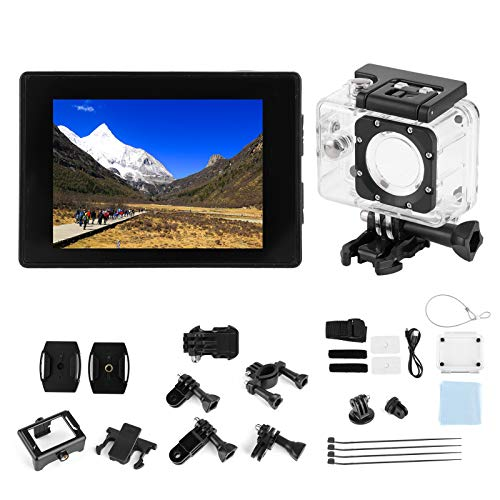Oferta de Wosune Videocámara Cámara de acción Imagen 4k Fotografía de Gran Angular Imagen Diseño más Claro Durable Exterior para el hogar