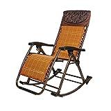 ZHAIZHEN Tumbona balancín reclinable balancín Balcón Lounge Adulto Plegable Almuerzo Break Siesta Ocio para Patio al Aire Libre
