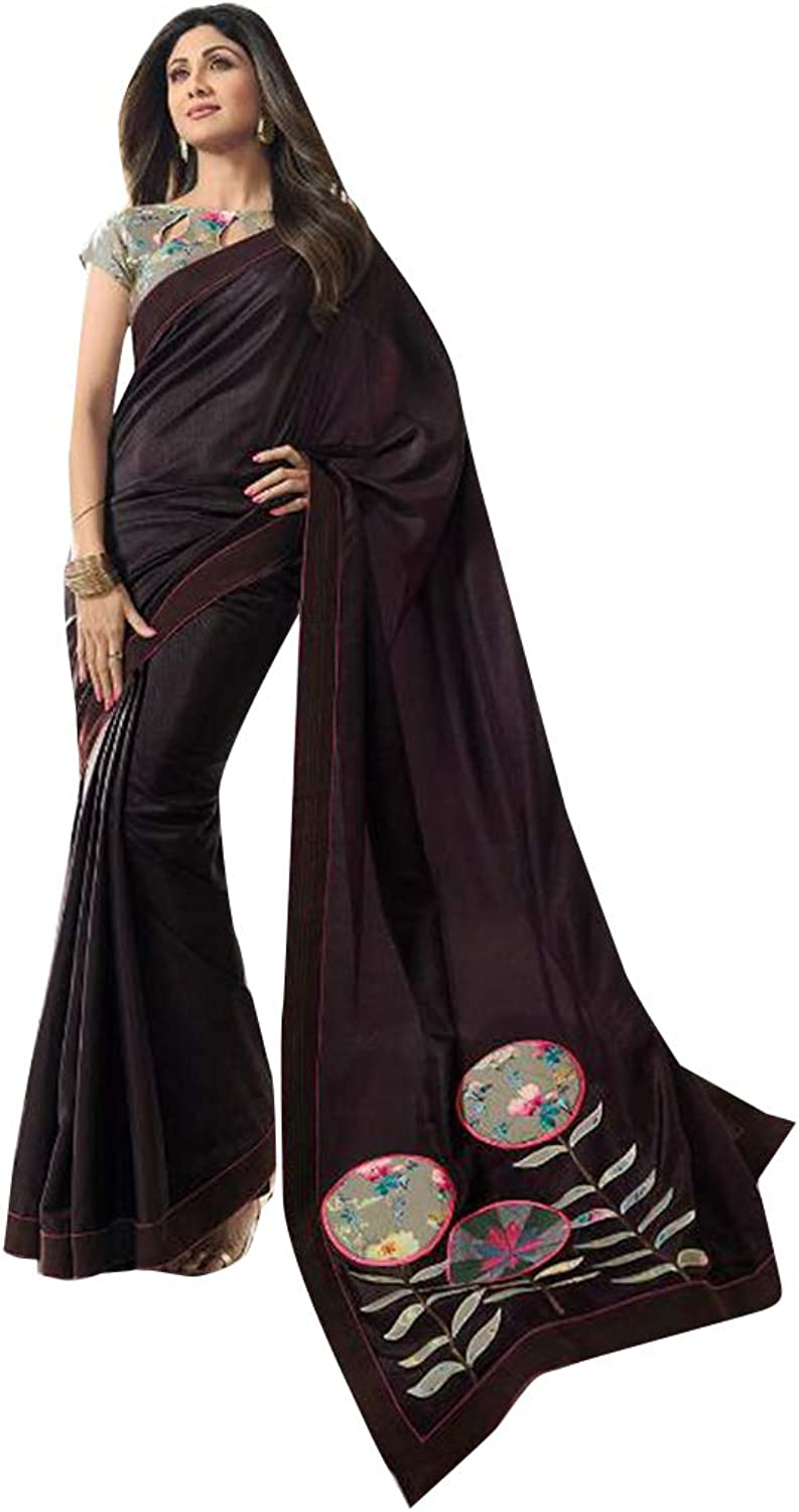 Hit Designer Bollywood Shilpa shetty Fancy Saree with Blouse piece Sari for Women Evening Cocktail wear 7852