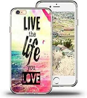 Carcasa para iPhone 6S, para iPhone 6, Funda Viwell TPU Suave de Goma, Frases de Silicona, Be Free