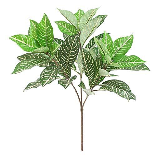 F Fityle Künstliche Pflanzen Blätter Zweig Kunstpflanzen für Zuhause Garten Hof Dekoration - Typ 1