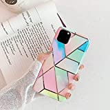cocomii geometric marble iphone 11 case, slim thin glossy soft flexible tpu silicone rubber gel