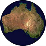 Slipmat Slip Mat Scratch Pad Felt for any 12' LP DJ Vinyl Turntable Record Player Custom Graphical - Map Australia 1
