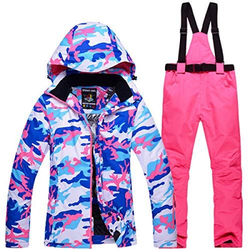 Skipak JSGJHXFThicken Warm Womens Camouflage ski- en snowboarpak ski-jack broek set dames waterdicht winddicht sneeuwkostuum nieuw