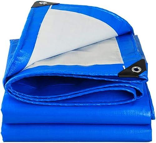 Liliya& Différentes Tailles de bache extérieure Bleue et Blanche, bache, bache Anti-Pluie, bache de Camion
