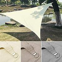 SunshineLife 日よけシェード オーニング UVカット シェードセイル イチオリシェード 紫外線98%カット スクリーン 撥水 耐久性 庭 ガーデン テラス バルコニー用 正三角形 洋風 (3M, ホワイト)
