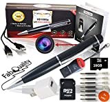 Gadgets Spy Camera Pen Bundle 1080p HD Spy Pen 16GB SD Micro Card