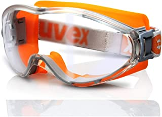 Fashion Bicycle dustproof and Windproof Sand-Proof Glasses Anti-Shock Protective Glasses, Anti-Chemical Goggles, Retro (Color : Orange)
