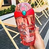 Taza de paja de plástico portátil Mujer día de verano hervidor adultos niño puede mezclar Smoothi avena leche jugo de fruta