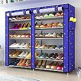 BBGSFDC Gabinete de zapatos a prueba de polvo de doble fila de 6...