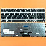 DE Tastatur mit Silber Rahmen Ohne Beleuchtung für Lenovo IdeaPad G70, G70-35