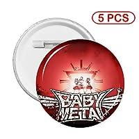 缶バッジカバーベビーメタル Babymetal 35 ピンバッジ円形 アニメバッジ クラスの徽章 日常飾り 萌え絵柄 丸いブローチ 襟のピンズ標識 ゲーム周辺 カスタマイズ贈り物 卒業プレゼント