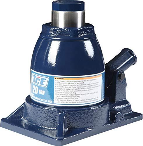 TCE TCE92008 Torin Hydraulic Stubby Low Profile Welded Bottle Jack, 20 Ton (40,000 lb) Capacity, Blue