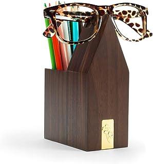 Solid Wood Pen Holder, Multi-Function Desktop Glasses, Solid Wood, Desktop Manager