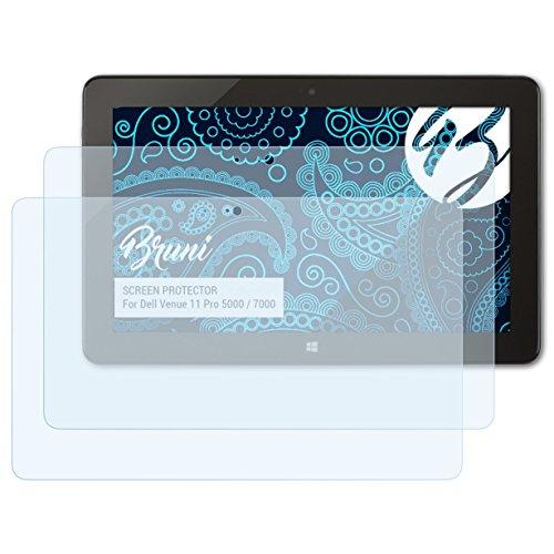 Bruni Schutzfolie kompatibel mit Dell Venue 11 Pro 5000/7000 Folie, glasklare Bildschirmschutzfolie (2X)