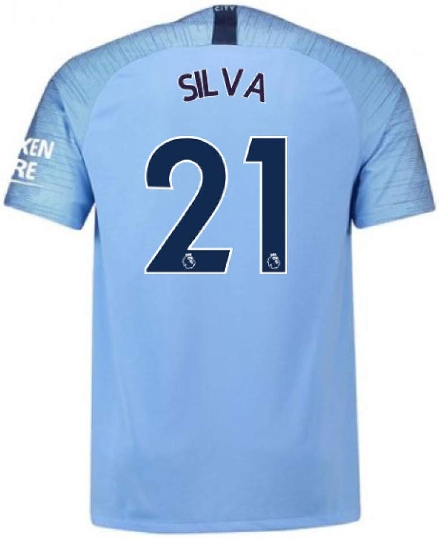 20182019 Man City Nike Vapor Home Match Shirt (Silva 21)