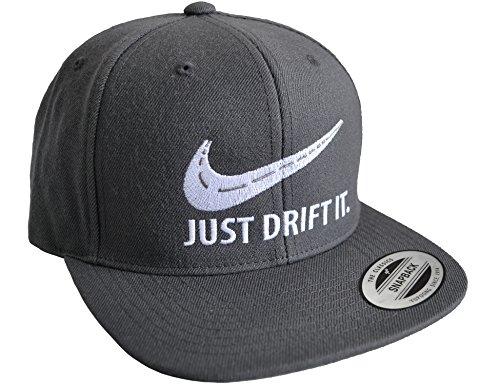 Petrolhead: Drift It - Cap für alle Tuning-, Drift-, und Motor-Sport Freunde - Classic Snapback Baseball Cap von Flexfit - Auto Tuner - Geschenk Auto-Merchandise Zubehör (Grau One Size)