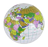 DIGITAL SPOT Childrens Fancy Kids Inflatable Blow Up Globe World Map Earth 60cm Accessory 40cm (Pack Of 1) One Size