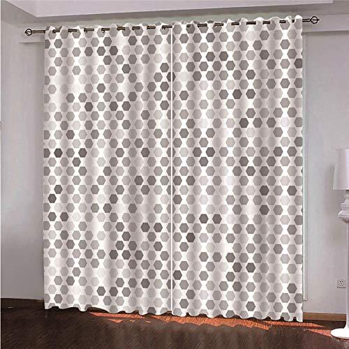 DOORWD Cortina Opacas Dormitorio Moderno con Aislamiento Térmico Negr