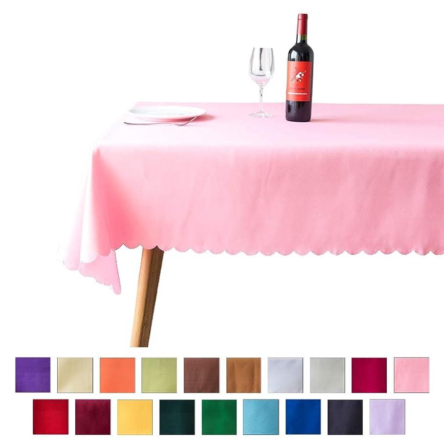 細胞獣種をまくWoo2u テーブルクロス テーブルカバー 食卓カバー オシャレ 無地 長方形 レストラン ホテル 北欧 厚手 柔らかい ピンク約2.2*2.2m