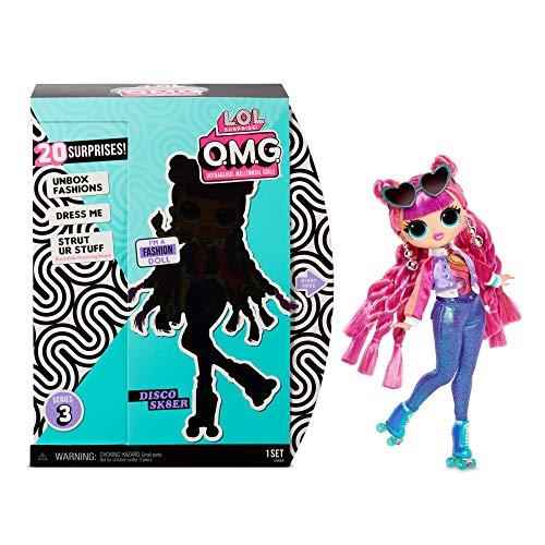 LOL Surprise Sammler-Modepuppen für Mädchen - Mit 20 Überraschungen & Accessoires - Roller Chick - OMG Serie 3