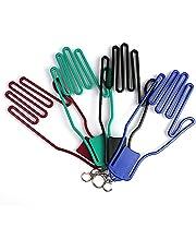 FENGLISUSU Golfhandschoenen Brancard, Golf Handschoenen Houder, Plastic Golf Handschoenen Keeper Brancard Handschoenen Ondersteuning Frame Rack Houder met Haak 4pcs (willekeurige kleur)