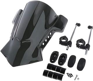SDENSHI Universal Windschutzscheibe Windschild Spoiler für ATV Quad Dirt Bike, Schwarz
