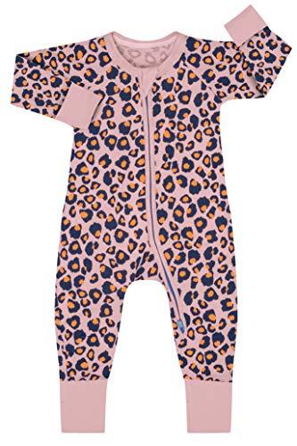 Dim 0a0g Pijama Largo para bebés y niños pequeños, Rose Moucheté, 1M