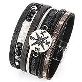 MallDou Jewelry Tree of Life Wrap Boho Leather Wide Cuff Handmade Wristbands...