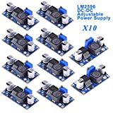 Innovateking-EU 10pcs DC-DC Step Down Buck Converter 3A LM2596S Regolatore di Tensione ad Alta efficienza 3,2-46 V a 1,25-35 V Alimentatore Regolabile Step Down Module