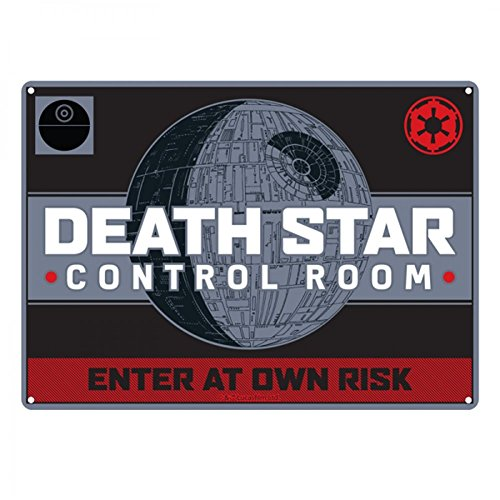 Star Wars Death Star Targa Metallica Piccola