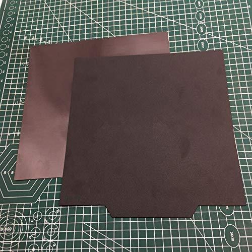 JRUIAN 3D Printer Parts, 1pc Creality CR-10 S4/S5 3D Printer Flexible Cmagnet Platform Sticker Plate 400/500mm Flexible Magnetic Sticker (Size : 400x400mm) (Size : 500x500mm)