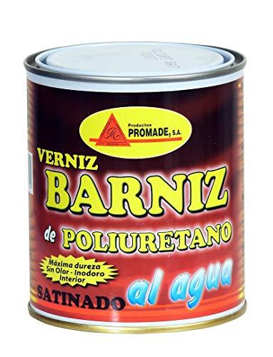 Promade - Barniz con poliuretano al agua para madera Satinado 750 ml. Uso interior.