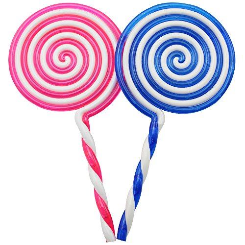 com-four® 2X piruletas Artificiales, piruletas de plástico Falso, Dulces de azúcar Dulce 22.5cm [el Color varía]
