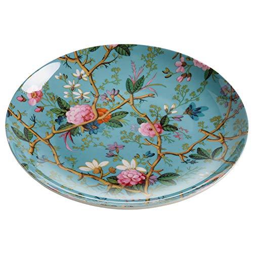 Maxwell & Williams WK05520 Kilburn Teller, Kuchenteller, Frühstücksteller, Victorian Garden, 20 cm, in Geschenkbox, Porzellan