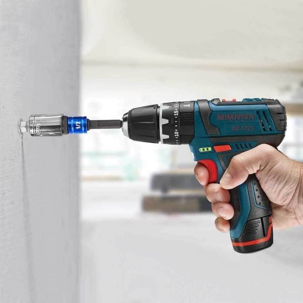 105 Degree Right Angle Drill Attachment Bit+3Pc 1//4 3//8 1//2Power Hand Tools Hex Shank Drill Nut Driver Bit Set,90 Degree Bit Driver,Angle Drill Adapter,Socket Driver Set Drill