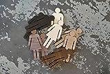 Ced454sy - Juego de señalizadores de madera para baño de 8 cm macho y hembra, set moderno de baño con figuras de madera elevadas en muchos acabados
