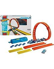 Hot Wheels Hélice ajustable, set de construcción de pista de coches de juguete, modelo surtido (Mattel GVG07)