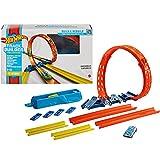 HotWheels Track Builder Unlimited coffret Looping Ajustable avec lanceur, connecteurs et une voiture incluse, jouet pour enfant, GVG07