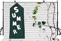 HD 7x5ft壁の背景執筆夏のドアのつる写真背景写真スタジオ背景小道具LYGE993
