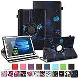 NAUC Asus ZenPad 10 Z300M Z301ML Z301MFL Tablet Schutzhülle Hülle Tasche Standfunktion 360° Drehbar aus Kunst-Leder Cover Universal Hülle, Farben:Motiv 8