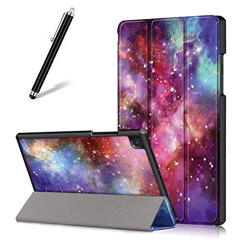 Artfeel Custodia per Samsung Galaxy Tab A7 2020 10.4 T500 T505 T507,Sottile Leggero Pelle Cover Pieghevole Supporto Regolabile Multi-Anglo Caso Slim Flip Folio Tablet Copertura,Via Lattea