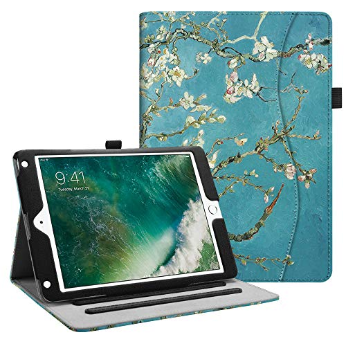 FINTIE Case for iPad 9.7 2018 2017 / iPad Air 2 / iPad Air - [Corner Protection] Multi-Angle Viewing Folio Cover w/Pocket, Auto Wake/Sleep for iPad 6th / 5th Gen, iPad Air 1/2, Blossom