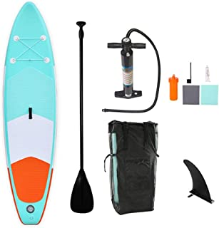 HgzBxL Recreación al Aire Libre Deportes acuáticos Surf Tablero de Paleta portátil Sup Doble Inflable de pie con Paleta, Bolsa de Transporte, Kit de reparación y Bomba