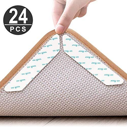 Waczecr Anti-Rutsch-Teppich-Unterlage, doppelseitig, waschbar und wiederverwendbar, rutschfest, für Hartholzböden, Teppiche, Teppiche und Matten