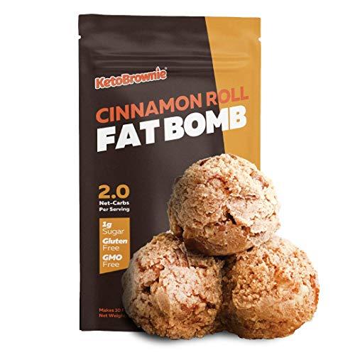 Keto Fat Bombs Cinnamon Roll Baking Mix l Instant & Delicious Low Carb Snacks l Just Add Butter l Low Sugar l Gluten Free l Ketogenic Baking l Low Carb Snacks l Paleo l Diabetic Friendly l 10 Servings