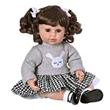 Adora ToddlerTime 'Preppy' Doll with embroidered bunny sweater, skirt and mary jane patent shoes