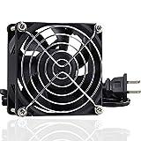 GDSIME AXIAL 8025, New Muffin Fan, 110V 115V 120V 220V 240V AC 80mm Fan, Ventilation Exhaust Projects Cooling Fan