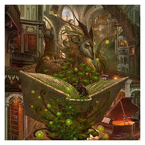 Lfixhssf Adulte Puzzle Jouets Puzzle 1000/1500/2000/3000/4000/5000/6000 Pièces Puzzles Dragon Paysage Art Peinture à l'huile Lfixhssf (Color : D, Taille : 2000pc)